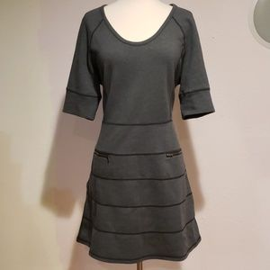 Athleta Strata grey knit dress, LP